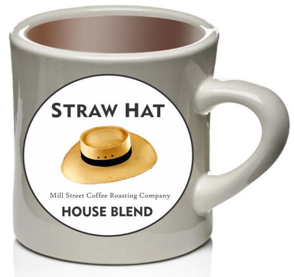 Straw Hat Coffee Coffee Cup Straw Hat