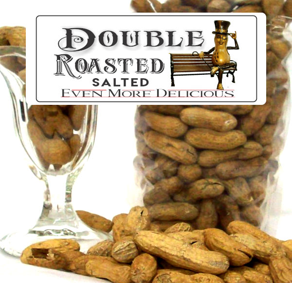 Double Roasted Salted Peanuts Label