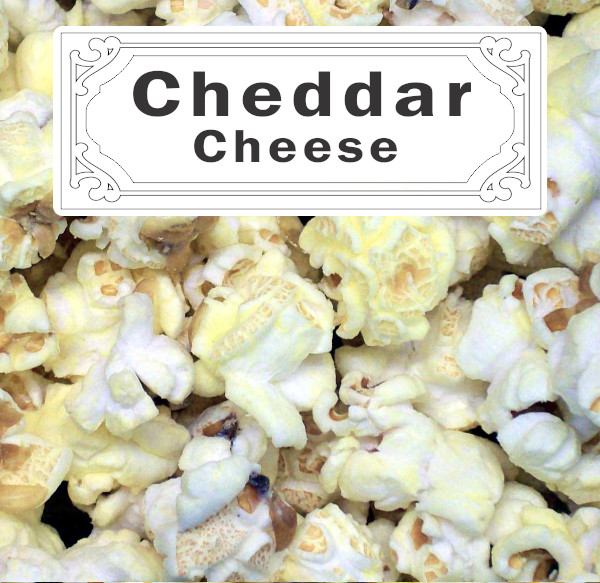 White Cheddar Cheese Popcorn Label