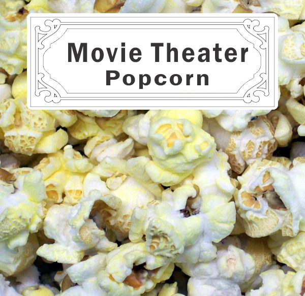 Movie Theater Popcorn Label
