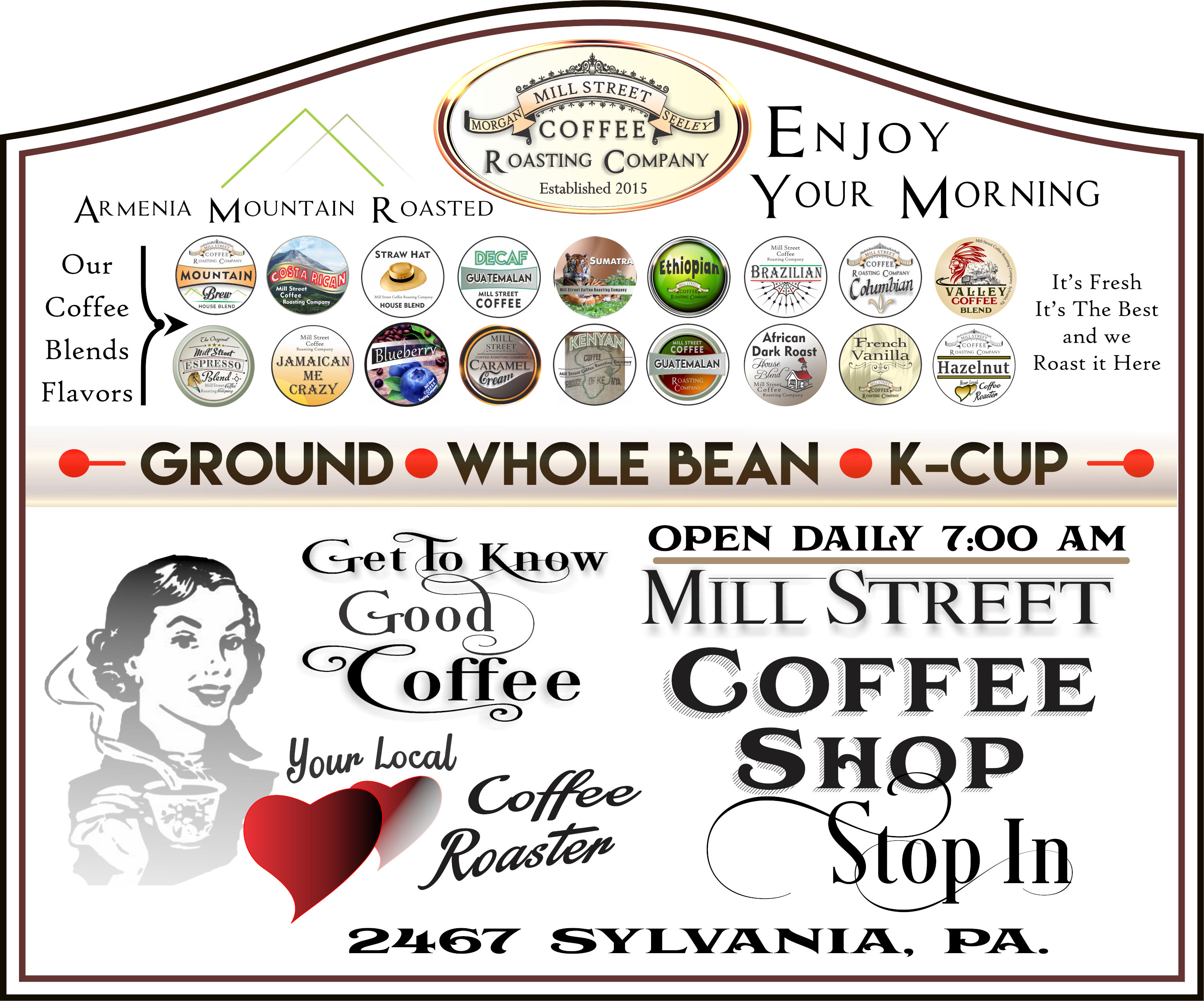 Mill Street Gourmet Coffee Coffee Poster